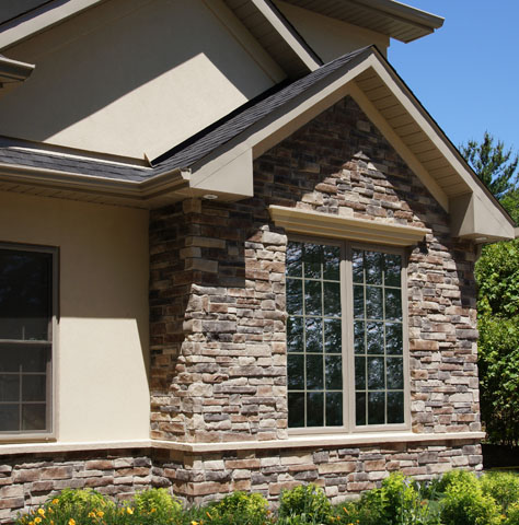 Stonerox dry stack stone veneer product for Stacked stone house