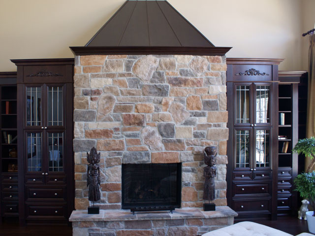 Stonerox fireplace gallery - Interactive home interior decor with various modern stone fireplace ...