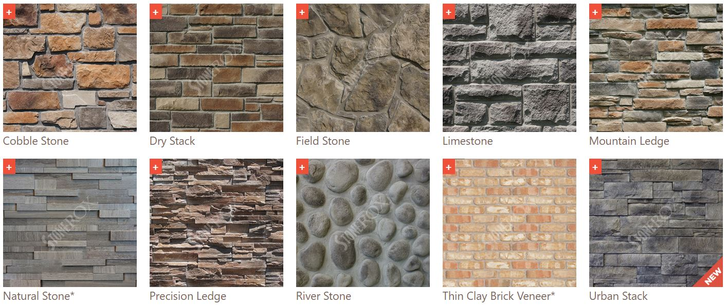 stone colours and styles
